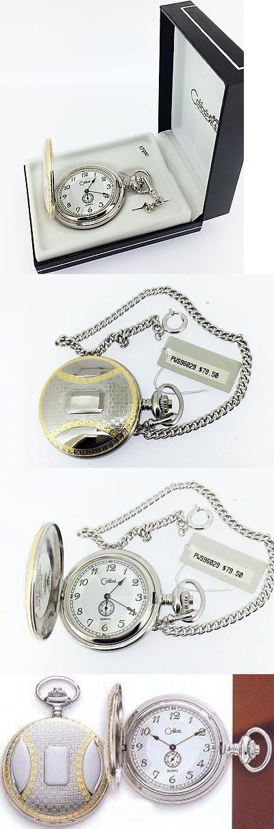 Other Pocket Watches 398: Colibri Two Tone Black Arabic Numerals White And Silver Dial Quartz Pocket Watch BUY IT NOW ONLY: $59.0