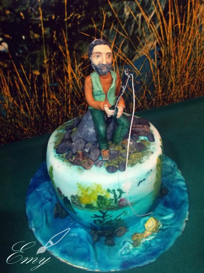 Fishman Cake - Cake by EmyCakeDesign