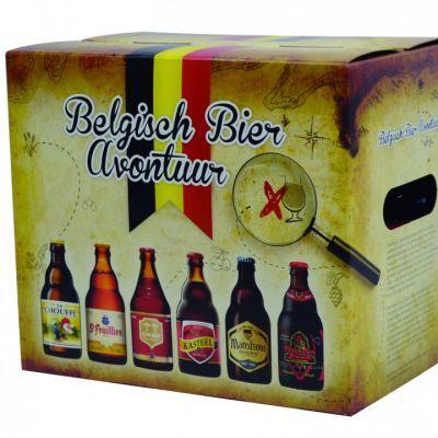 Het Belgische bieravontuur is een praktische geschenkverpakking gevuld met 6 Belgische speciaal bieren. Het avontuur begint met het bekende kabouterbier La Chouffe en eindigt met het bijzondere Portbier van Broeder Jacob. Onderweg passeert u ook nog de St. Feuillien Blond, Chimay Rood, Kasteel Rouge en Maredsous Tripel. #Drankgeschenk