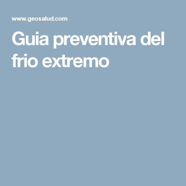 Guia preventiva del frio extremo