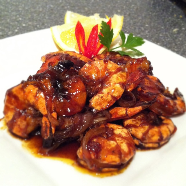 Udang kecap made by my mom