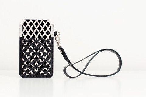 Net overlay case (monochrome) #margo #monochrome #leather # accessories #iphone5