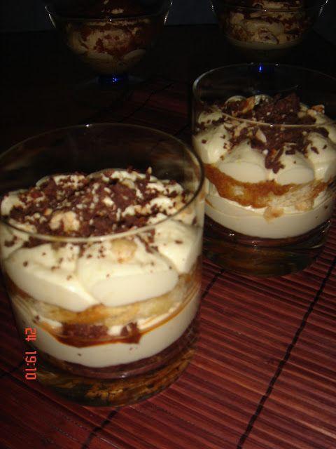 vaniglia e cioccolato: bicchierini