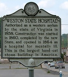 Image detail for -Weston State Hospital (Marker #2) - West Virginia Historical Markers ...