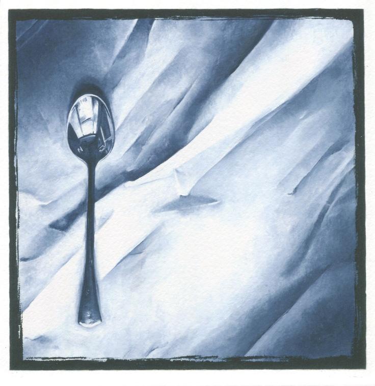 teaspoon on paper