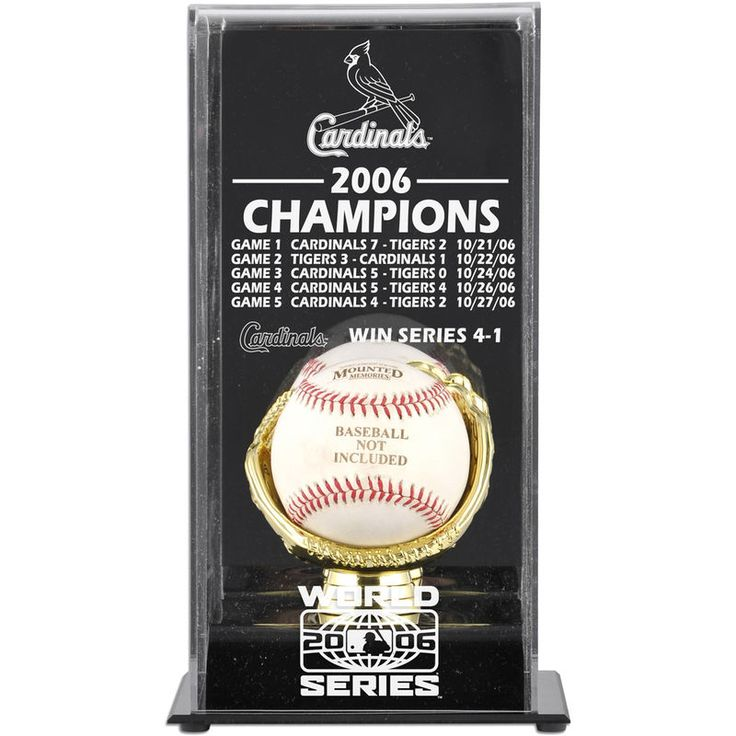 St. Louis Cardinals Fanatics Authentic 2006 World Series Champions Baseball Display Case