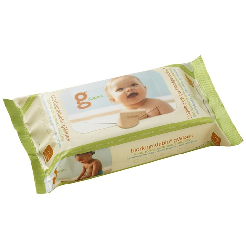 gDiapers Biodegradable gWipes - 70 count by gDiapers at BabyEarth.com, $4.95