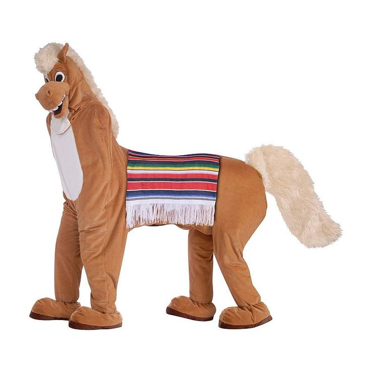 Adult 2-Person Horse Costume, Size: standard, Brown
