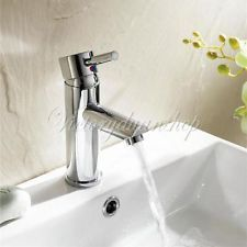 New MODERN BATHROOM BATH BASIN SINK MIXER TAP FAUCET CHROME SINGLE LEVER