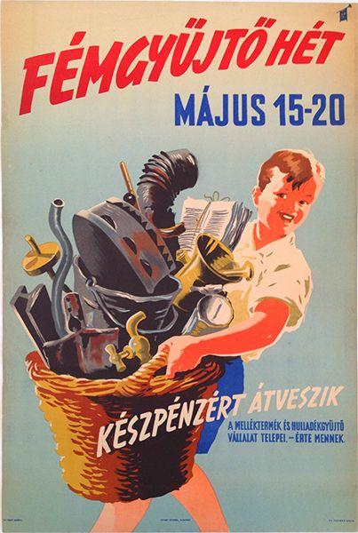 Metal Waste Collecting Week - Hungary, 1951