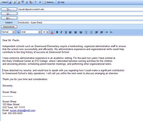 best formats for sending job search emails cover letter formatletter format sampleresume - Email Resume And Cover Letter