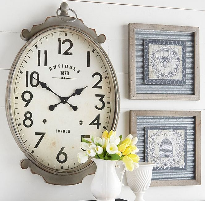 "It's ""high time"" you show off your impeccable style with an impressive clock from The Village Shoppes! From wall clocks to desk clocks and from traditional clocks to contemporary clocks, The Village Shoppes are certain to have a time piece that will beautifully accentuate any room in your home! And since clocks exude ""timeless"" flair, your purchase will bring years of enjoyment!"