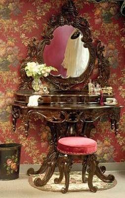 ❤︎ ~ My Style ~ Home Decor ~ ❤︎ | Victorian Vanity  | From my board: https://www.pinterest.com/sclarkjordan/~-my-style-home-decor-~