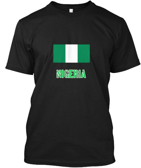 Nigeria Flag Stencil Green Design Black T-Shirt Front - This is the perfect gift for someone who loves Nigeria. Thank you for visiting my page (Related terms: I Heart Nigeria,Nigeria,Nigerien,Nigeria Travel,I Love My Country,Nigeria Flag, Nigeria Map,Nigeria  #Nigeria, #Nigeriashirts...)