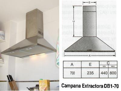 Campanas extractoras de cocina buscar con google - Altura campana cocina ...