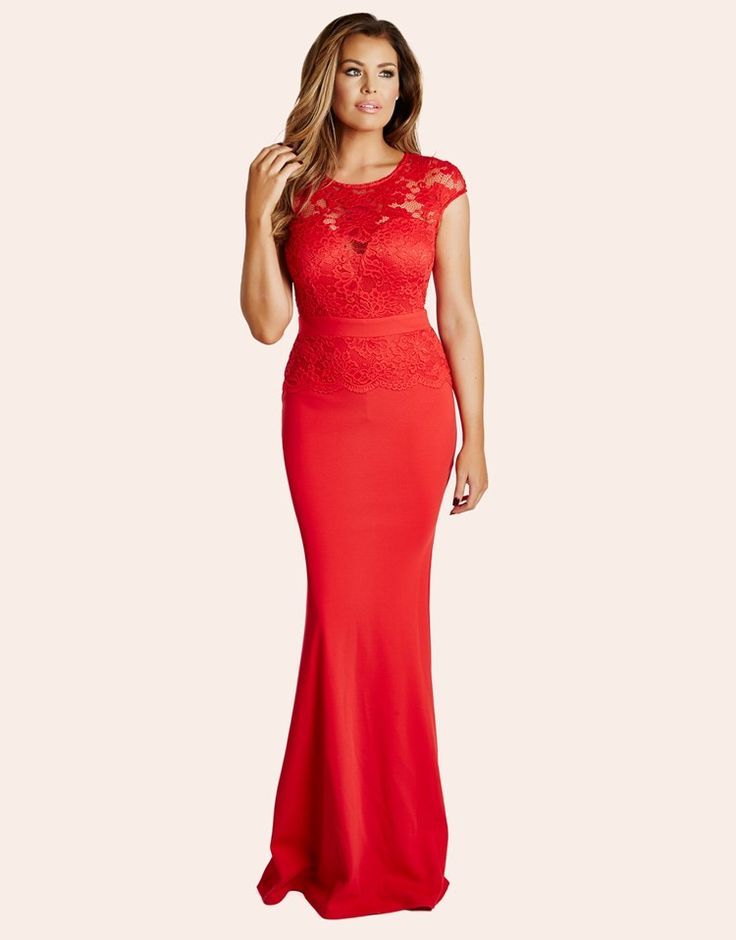 Jessica Wright Lace Detail Maxi Dress