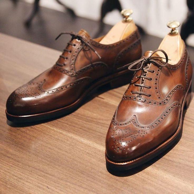 Chaussures En Cuir Norwegian Cheval Marron Brun Louis Cavalier S17oelto7W