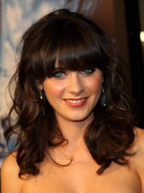 Collarbone Wavy Hairstyle with Bangs ,  #Bangs #Collarbone #frisuren #Hairstyle #WAVY