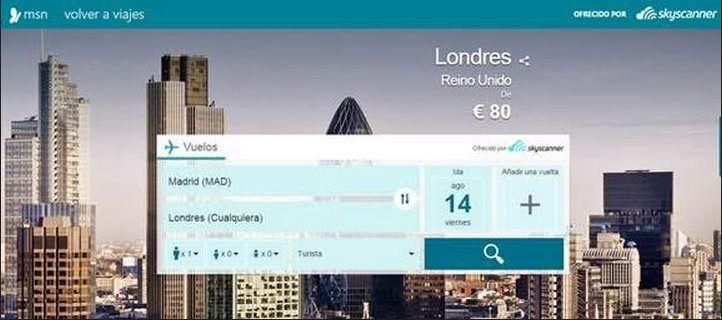Lee Microsoft se asocia con Skyscanner para integrar su buscador de vuelos en MSN
