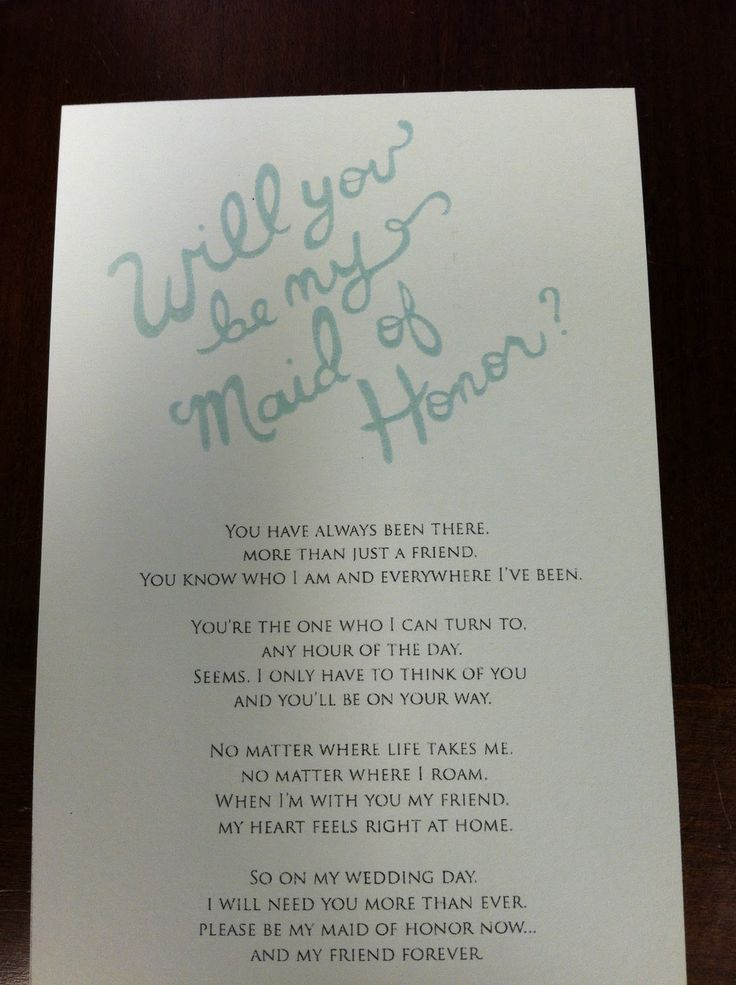 Sweet way of asking your bridesmaid!!