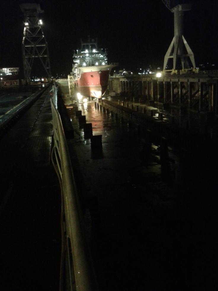 Big dock small ship :)