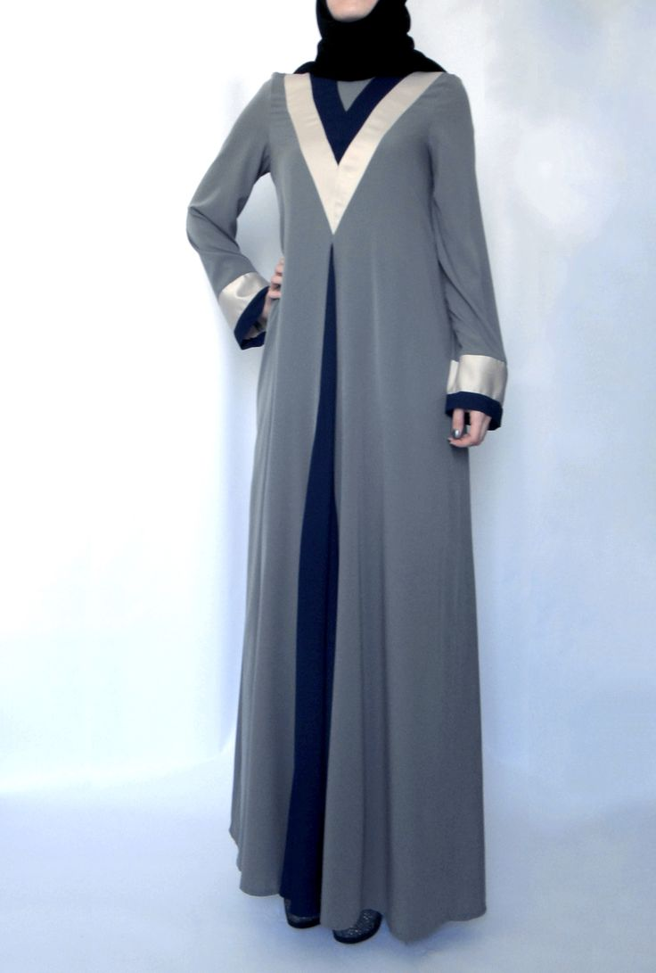 Tulip Abaya – Grey - Lana Lik - Modest Clothing Boutique