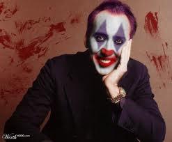 Nickolas Cage hiding behind Clown makeup :-)