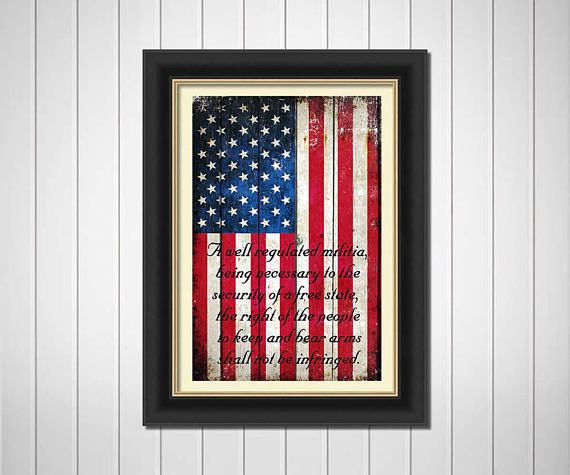 2nd Amendment Gifts American Flag 2nd Amendment Horizontal Print On Metal Sheet Stretched Canvas Or Archival Paper Stretch Canvas Flag Painting White Wash Brick