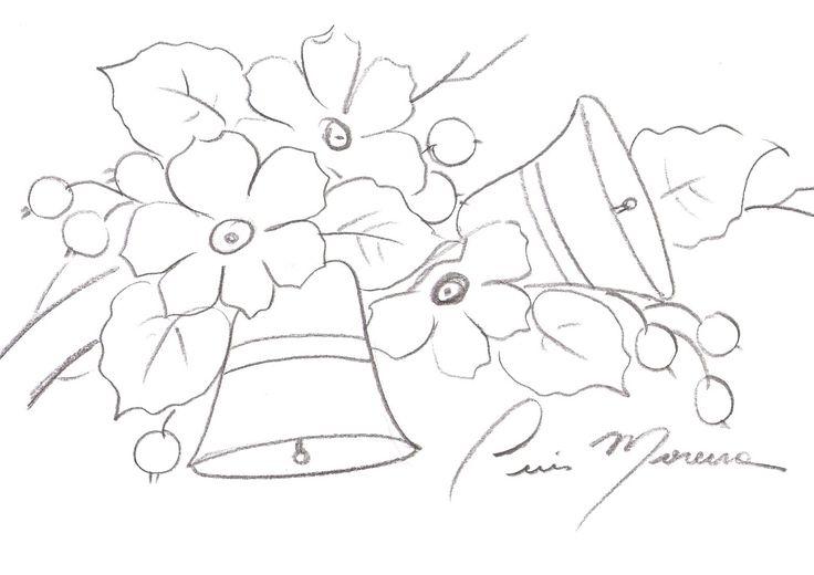 Coisas da Nil - Pintura em tecido: Natal em flor...