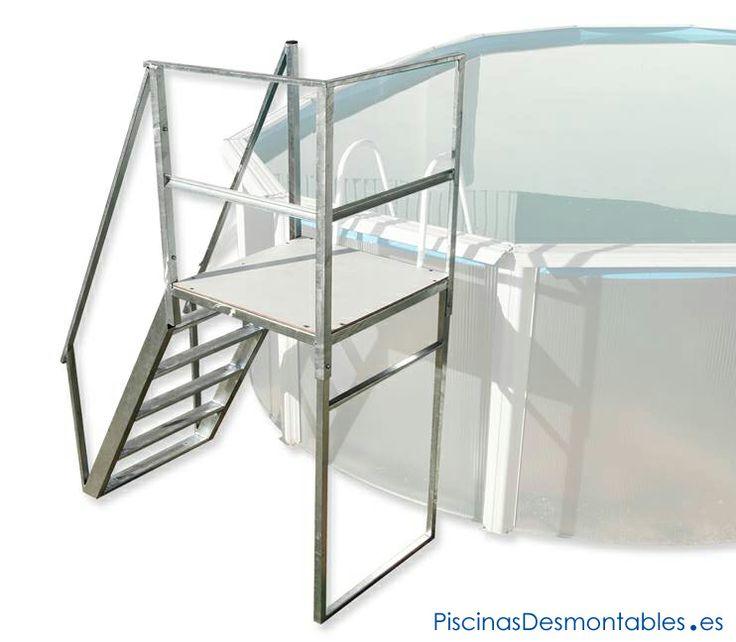 Escalera s per resistente para piscinas elevadas a for Escalera piscina desmontable