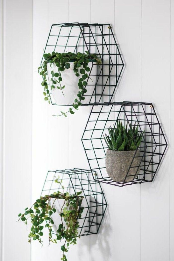 Wohnideen Kuche Regale Aus Draht Blumentopfe Grube Pflanzen Weisse Wand Mietwohnungen Dekorieren Dekorieren Gunstig Dekorieren