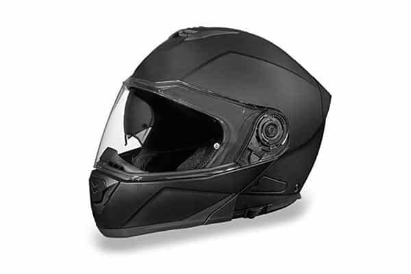 Billy's Biker Gear Flat Black Bluetooth Motorcycle Helmet