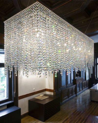 L ster originelles design aus kristall linea manooi for Esszimmer leuchte kristall
