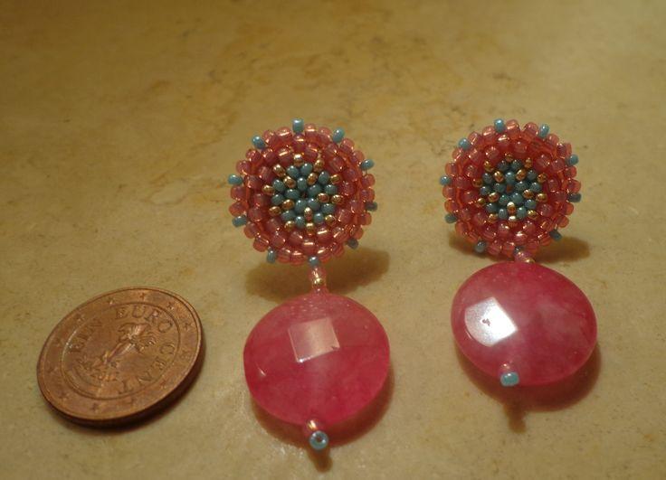 Orecchini realizzati a mano con rocaille Miyuki, a lobo e pendenti : Orecchini di patrizia-bijoux