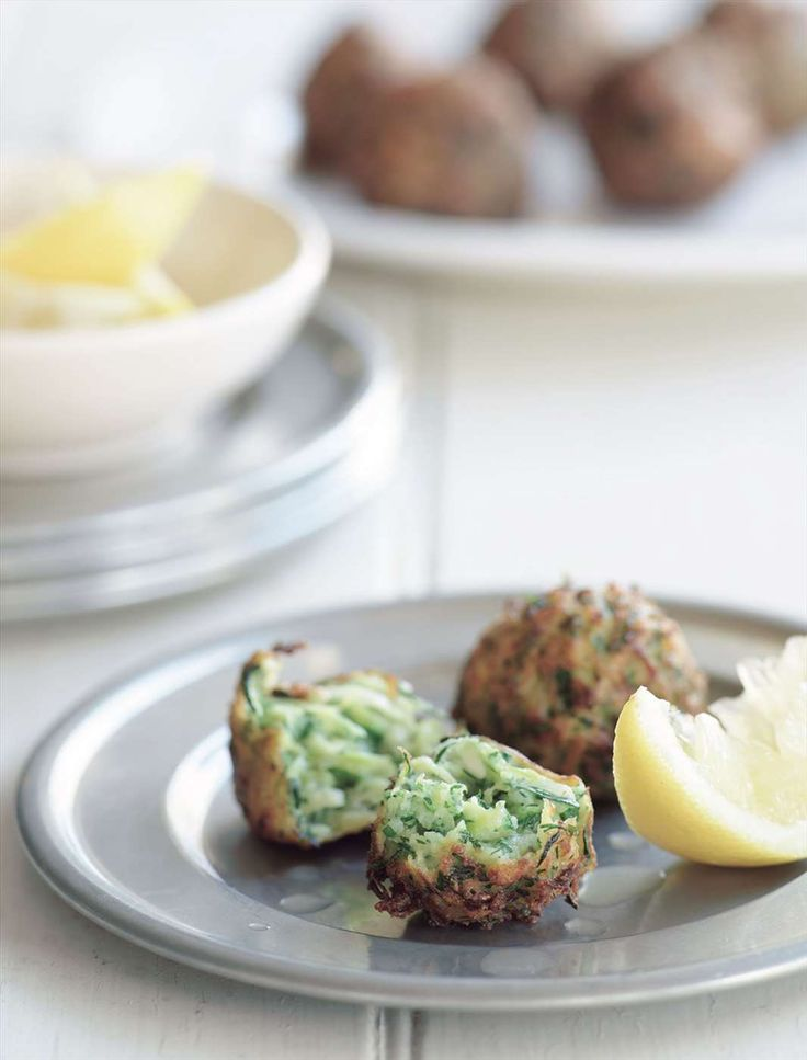 Zucchini fritters with dill by Greg Malouf from Turquoise | Cooked