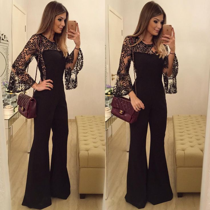 """{All Black ✨} Macacão @lilybelleoficial  • #lookdanoite #lookofthenight #ootn #selfie #blogtrendalert"""