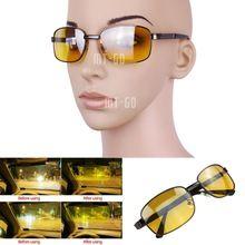 Unisex clássico óculos de visão noturna óculos para motorista esporte amarelo(China (Mainland))
