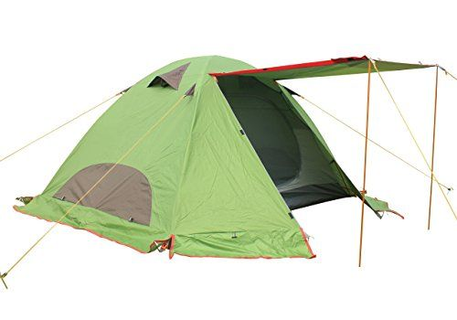 FUNS 2 Person 4 Season Camping Hiking Shelter Tent With Rainfly And Snow Skirt TwoDoor Waterproof Lightweight Backpacking Tent Green * See this great product. Note:It is Affiliate Link to Amazon.