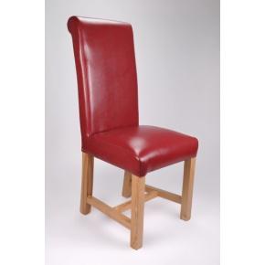 Richmond Bonded Leather Dining Chair Burgundy  www.easyfurn.co.uk