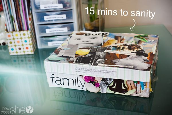 My 15 minutes to Sanity. This would be so fun to make with the kids! #tutorial #moderationnation #sp