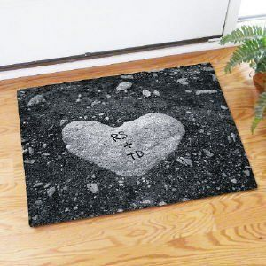 Heart Of Stone Doormat By GiftsForYouNow.com. $24.98. Personalized Couple  Doormat   Personalized