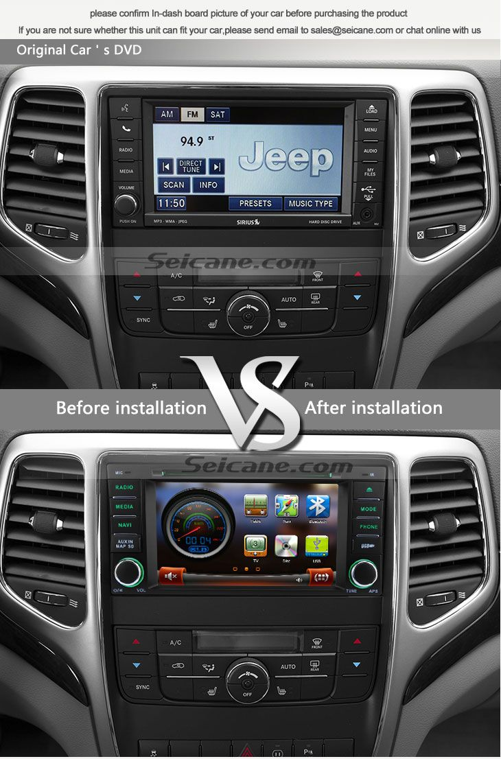 All in one 2011 2012 2013 jeep grand cherokee aftermarket car navigation system 7