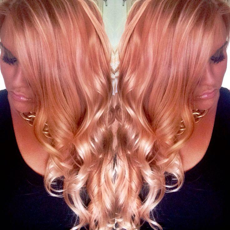 rose goldblush ombr233 hair color by jenn at mod squad