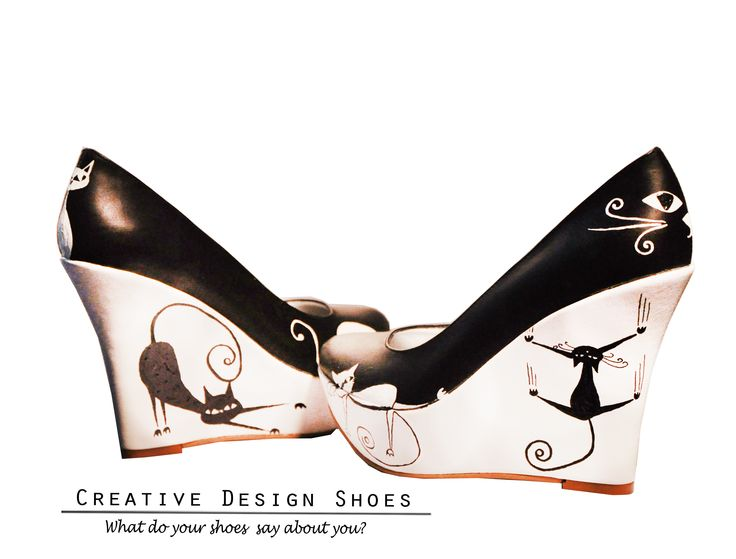Cats Gone Wild - Pantofi pictați manual