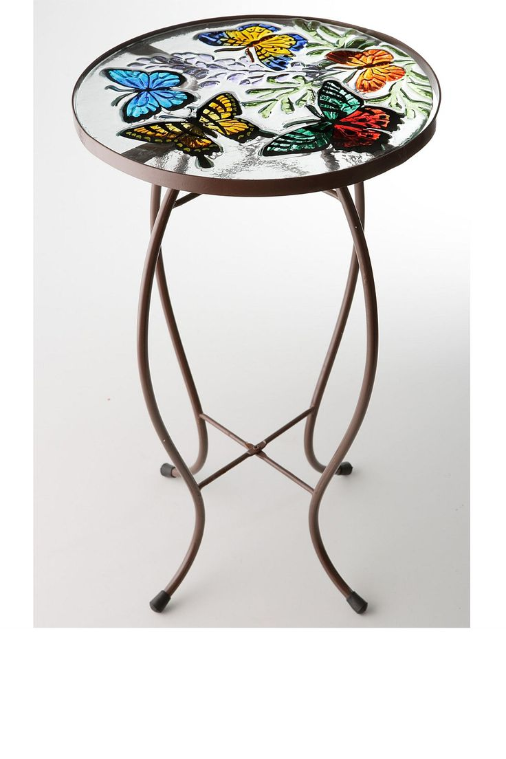 Nice Butterfly End Table | Garden   Butterfly Glass Top Side Table   EziBuy New  Zealand