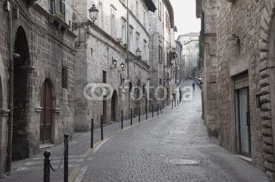 Ascoli Piceno, via Pretoriana beautiful street downtown the city