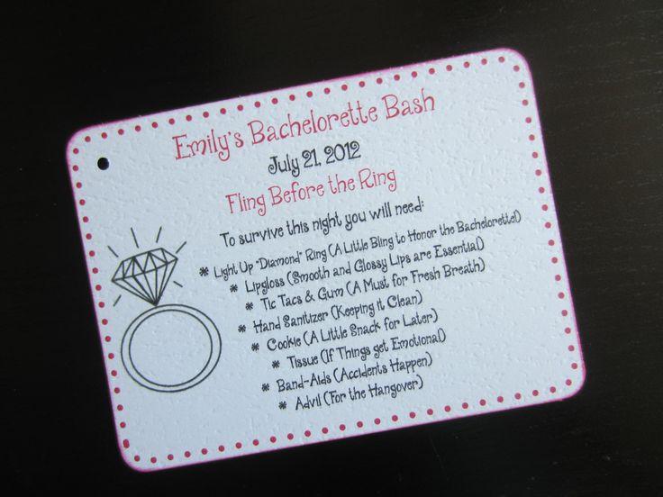 Bachelorette Party Survival Kit Tag. $11.20, via Etsy.