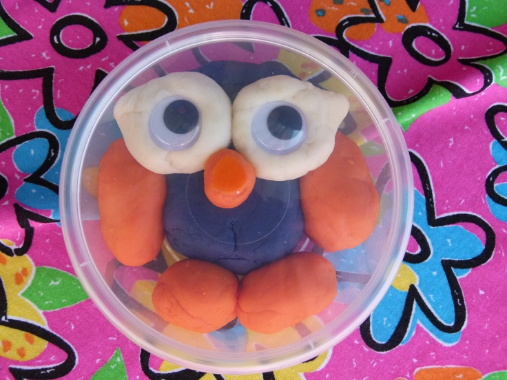 'Hoot the Owl' play dough thank you gifts for daughter's 2nd birthday