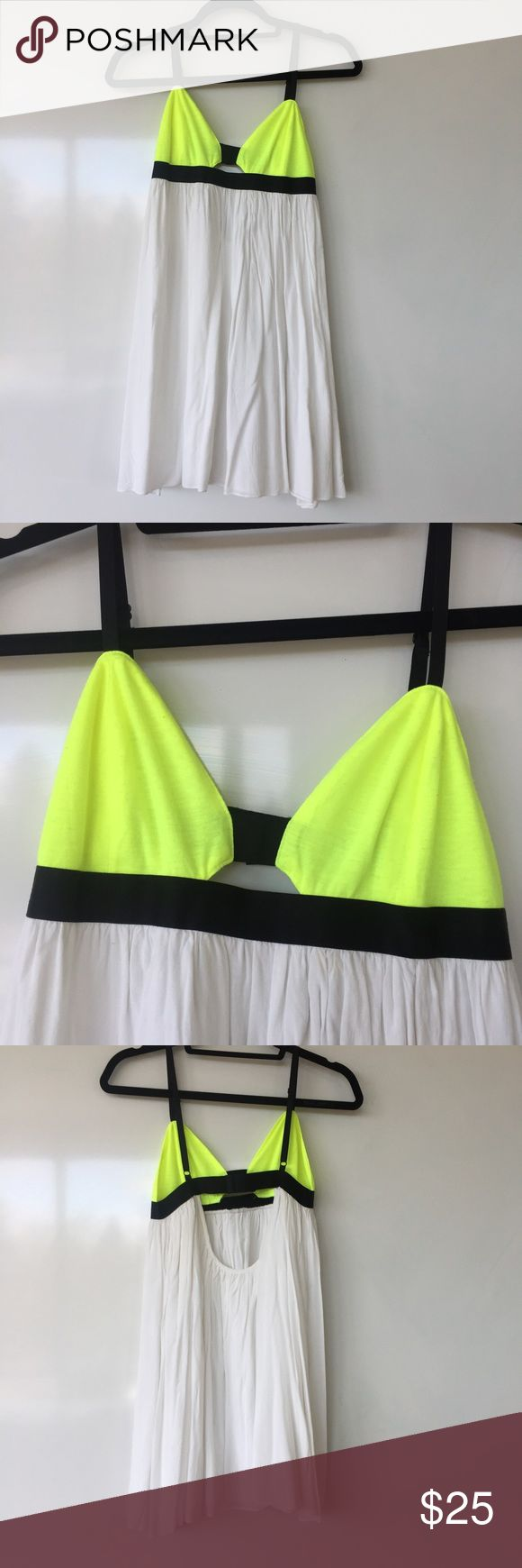 lf dress white and neon yellow dress from lf. fits nicely. worn once. LF Dresses Mini