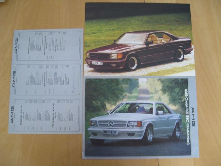AMG MERCEDES 500 SEC BROCHURE IS DOUBLE SIDED and NARROW BODY IS SINGLE. | eBay!